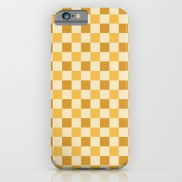 Yellow Crossings - Classic Gingham Checker Print iPhone Case
