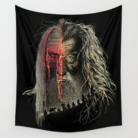 lotr Wall Tapestries featuring Evil Border by RicoMambo