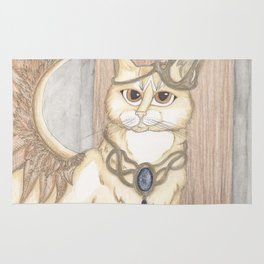 Jack Cat Angel Art Rug