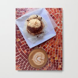Cortado and Muffin Metal Print