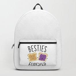 Cute Funny Peanut Butter Jelly Besties Forever Best Friends Backpack