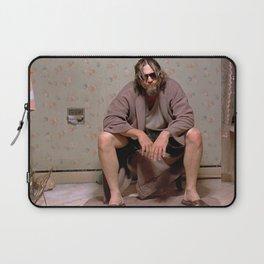 The Dude - Big Lebowski Movie Poster - Funny Bathroom Art, Bathroom Print,Funny Gift Laptop Sleeve
