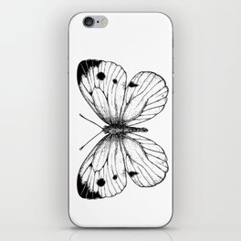 Cabbage butterfly iPhone Skin