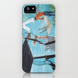 Peace and thinking iPhone Case