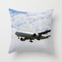Kuwaiti Airlines Boeing 777 Throw Pillow