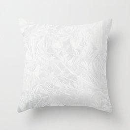 Close-Up Of Empty Plastic Bag Throw Pillow