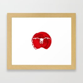 Red ryuk death note shinigami Framed Art Print