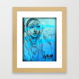 Hints Of Blue  Series1 Framed Art Print