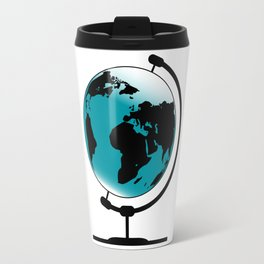Mounted Globe On Rotating Swivel Travel Mug