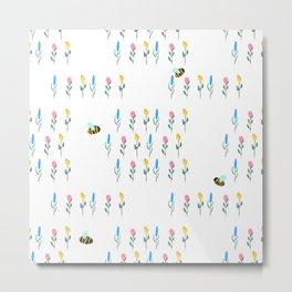 Bee garden Metal Print