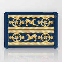greyhound iPad Cases featuring STEAMPUNK GEARS AND GREYHOUND by Jane Walker