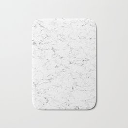 Marble White, Black and Gray 2 Texture Abstract Photography Design Bath Mat