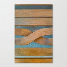 Cross the Wood Canvas Print