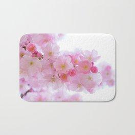 Pink Japanese Cherry Tree Blossom Bath Mat