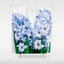 Hyacinth Purple Flatlay Shower Curtain