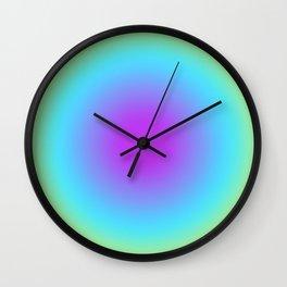 Round Gradien Neon Wall Clock