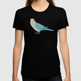 Pixel / 8-bit Parrot: Blue Quaker Parrot T-shirt