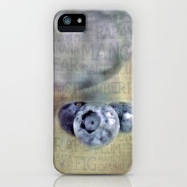Blueberry Art iPhone Case