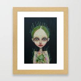 grass girl Framed Art Print