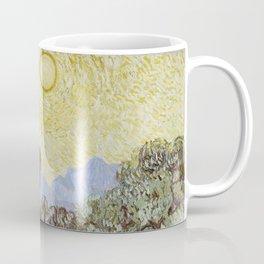 Vincent van Gogh - Olive Trees with Yellow Sky and Sun Coffee Mug