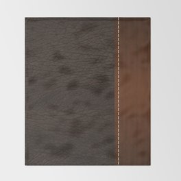 Brown leather look #1 Throw Blanket