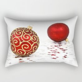 Merry Christmas Ornament Photo Rectangular Pillow