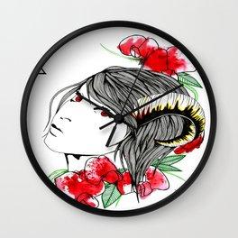 Zodiac/ Aries woman Wall Clock