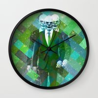 clown Wall Clocks featuring Clown... by William Rutherford