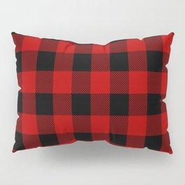 Red and black buffalo plaid pattern Pillow Sham