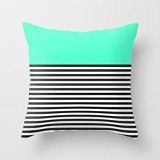 STRIPE COLORBLOCK {MINT/TEAL} Throw Pillow
