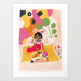 The Magic Is In The Doing Art Print