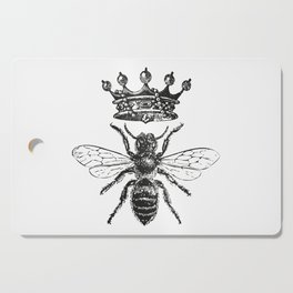 Queen Bee | Black and White Cutting Board