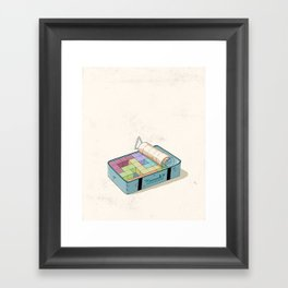 Preparing luggage Framed Art Print