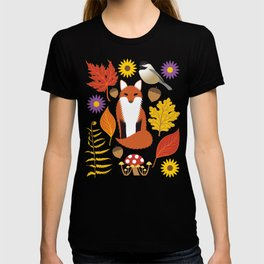 Autumn Leaves and Fox T-shirt