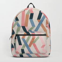 Straight Geometry Ribbons 1 Backpack