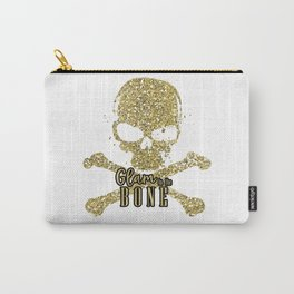 White Glam to the Bone Skull Carry-All Pouch
