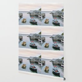 Ballintoy Harbour, Ireland. (Painting) Wallpaper