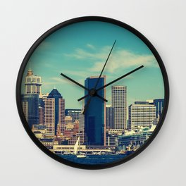 ocian view photo Wall Clock