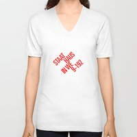 bauhaus V-neck T-shirts featuring Staatliches Bauhaus by THE USUAL DESIGNERS