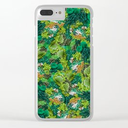 Moss Cluster Clear iPhone Case