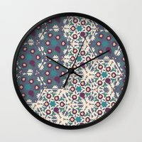 klimt Wall Clocks featuring Klimt MoonLight by Jamilla Okubo