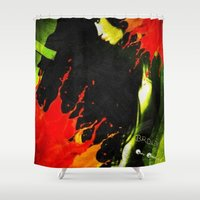 broken Shower Curtains featuring BROKEN by    Amy Anderson