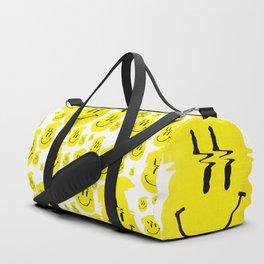 Smiley Glitch Duffle Bag