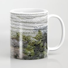 Abstract landscape in grey and green Mug