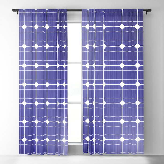 In charge / 3D render of solar panel texture Blackout Curtain