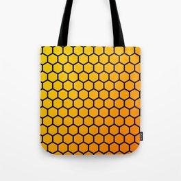 Yellow and orange honeycomb pattern Tote Bag