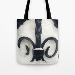 Snowy Iron Tote Bag