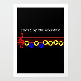 Heart Of The Mountain - Bolero Of Fire (The Legend Of Zelda: Ocarina Of Time) Art Print