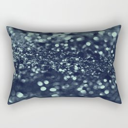 Sparkling Blue Summer Night Lady Glitter #2 #shiny #decor #art #society6 Rectangular Pillow