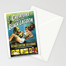 Creature from the Black Lagoon, vintage horror movie poster Stationery Cards